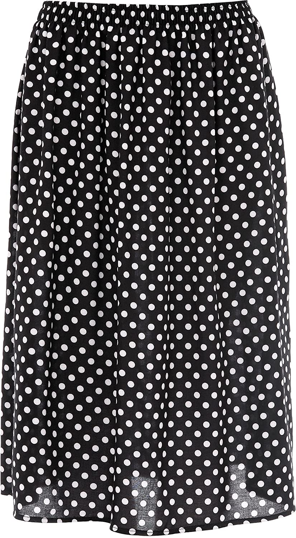 KK Fashion Lines Ladies//Womens Summer Floral Print Skirt Light Weight Soft Viscose Fabric 27 Length Elasticated Waist