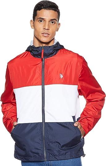 U.S. Polo Assn. Mens Tri-Color Windbreaker Jacket: Amazon.es ...