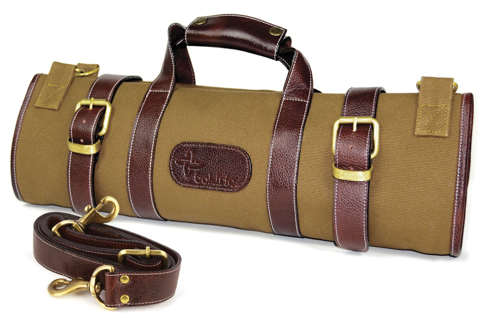Boldric 17 Pocket Canvas Knife Bag (Khaki)