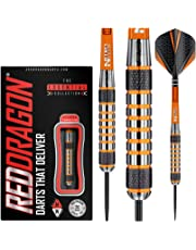 Red Dragon Amberjack 24g, 26g, 28g or 30g Tungsten Darts Set with Flights and Stems