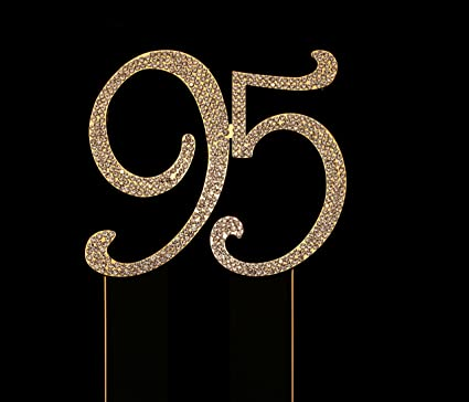 Number 95 For 95th Birthday Cake Topper Anniversary Party