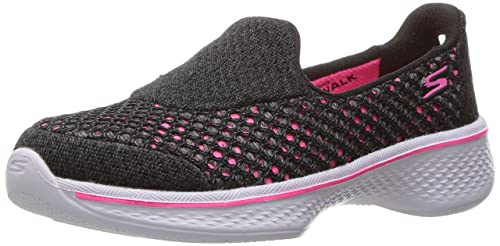 Skechers Go Walk 4-Kindle, Zapatillas para Niñas, Negro (BBK), 38 EU