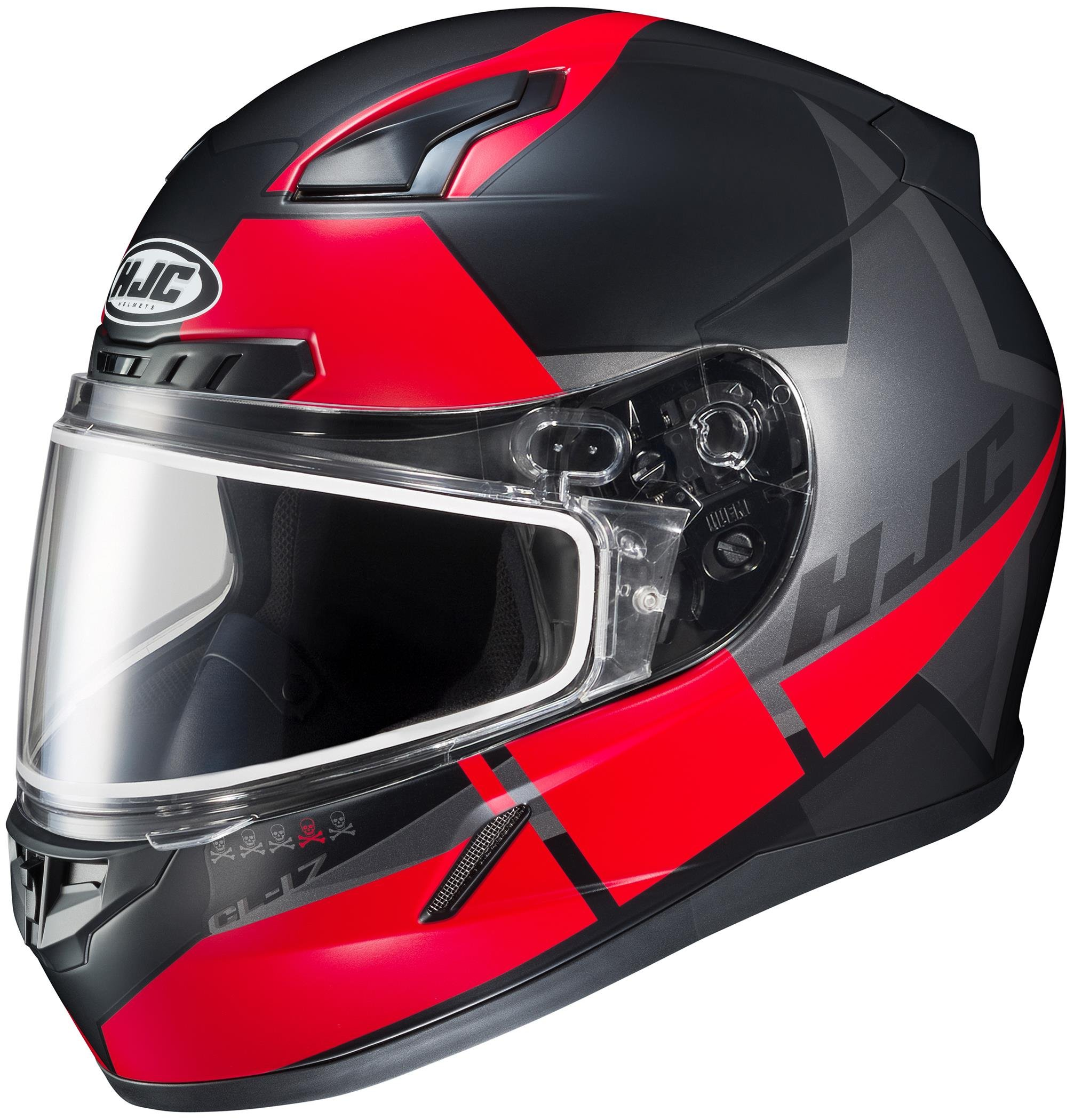 HJC CL-17 Boost Snow Helmet with Electric Shield (MC-1SF, Large) XF-10-1251-2531-06