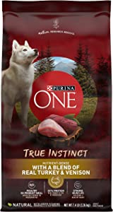 Purina ONE High Protein Natural Dry Dog Food, SmartBlend True Instinct With Real Turkey & Venison - 7.4 lb. Bag