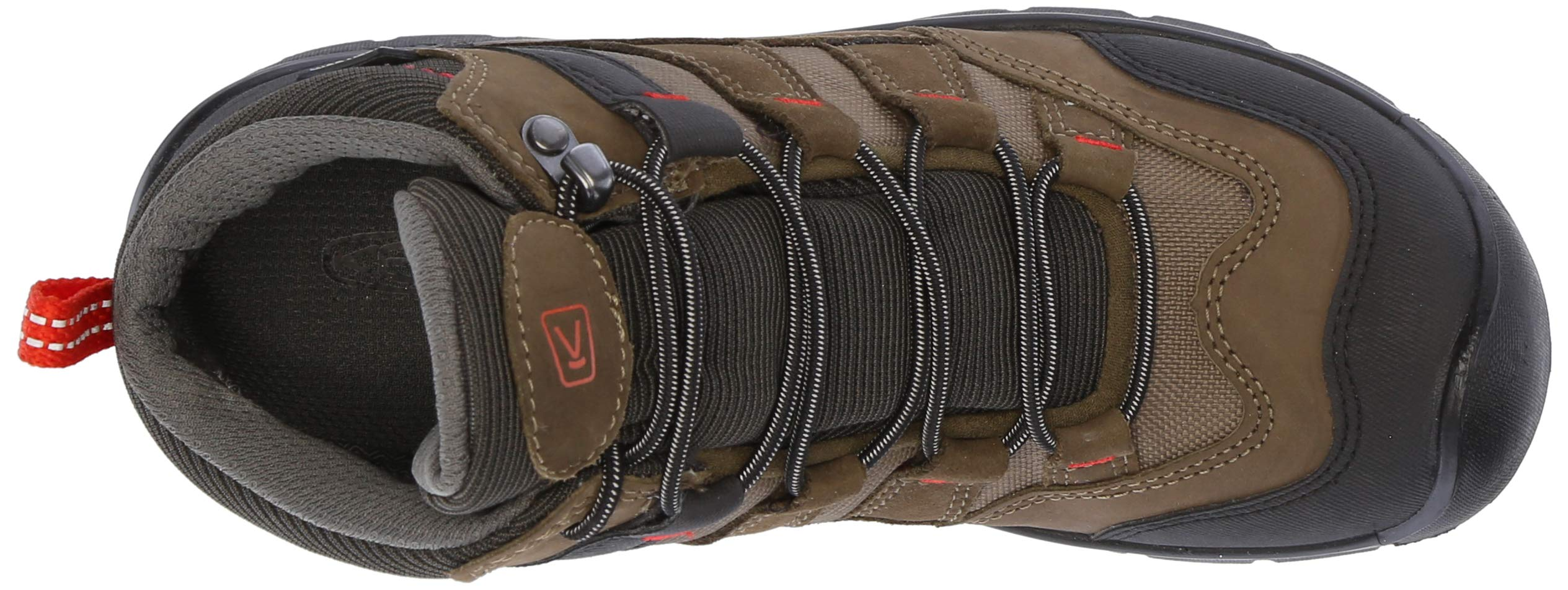KEEN Unisex HIKEPORT MID WP Hiking Boot, Martini Olive/pureed Pumpkin, 12 M US Little Kid by KEEN (Image #8)