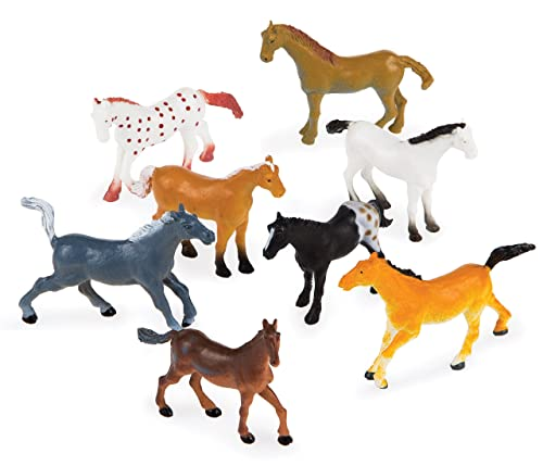 Plastic Horse Toys (Pack Of 8)
