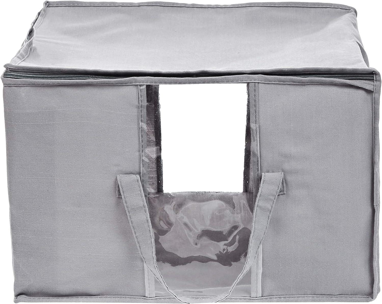 Basics Contenitore portaoggetti sottoletto con chiusura lampo confezione da 2