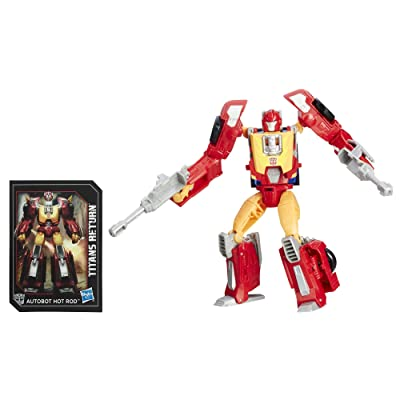 Transformers Generations Titans Return Autobot Hot Rod and Firedrive: Toys & Games