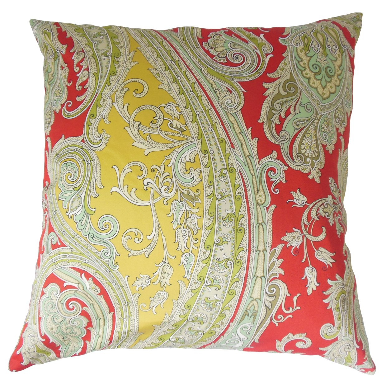 Lacquer Red The Pillow Collection P18-ROB-FUNPAISLEY-LACQUERRED-C100 Efharis Paisley Pillow