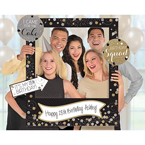 Amazon Amscan Sparkling Celebration Customizable Giant Photo