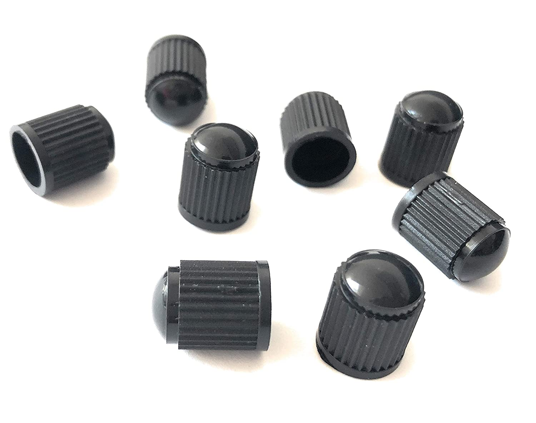 8er-Set Kunststoff-Ventilkappen Auto Motorad Fahrrad Radventilkappen Reifenventilkappen Ventildeckel Schwarz