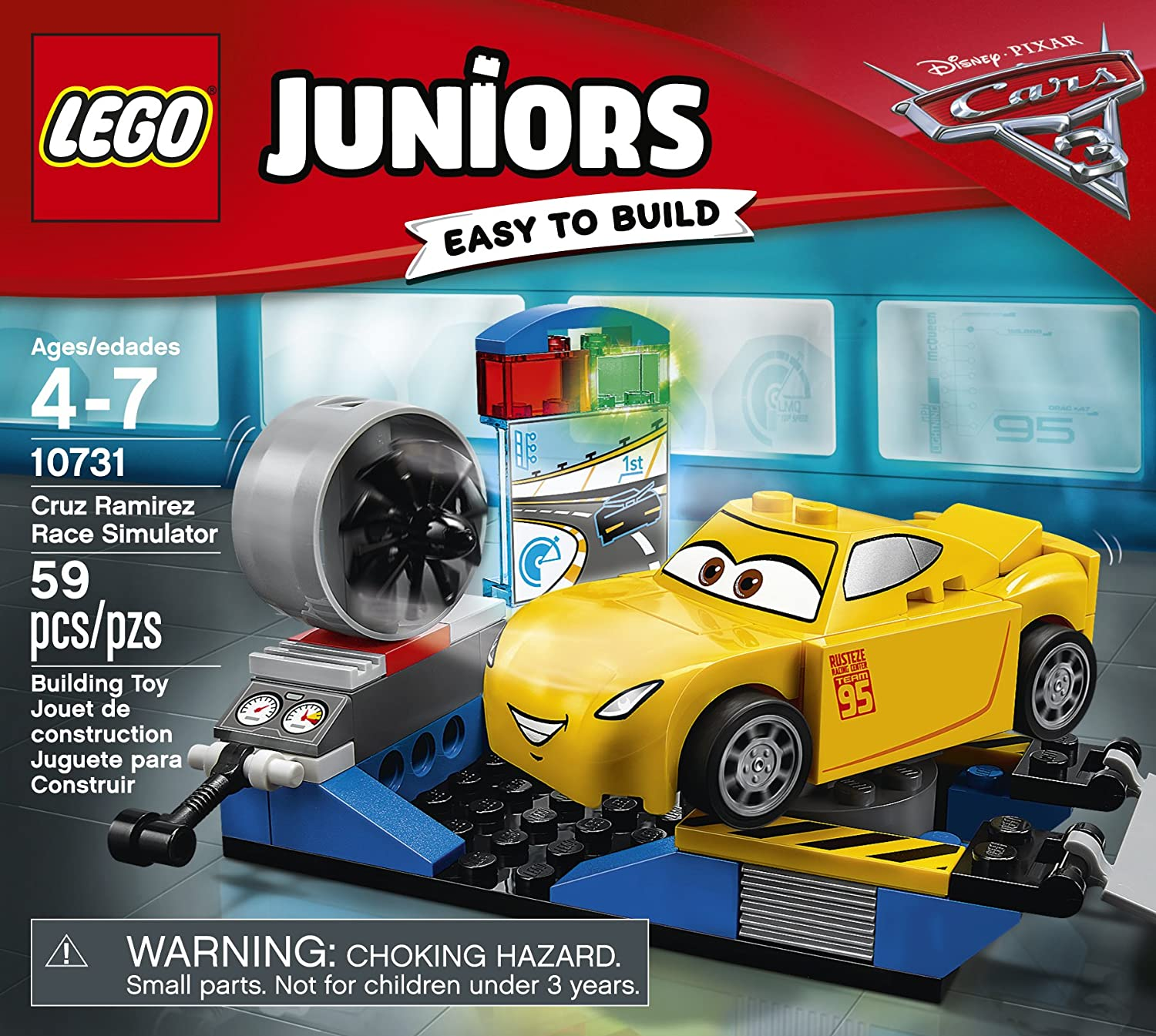 Lego Juniors Disney Cars Cruz Ramirez Race Simulator 10731 NEW Easy To Build