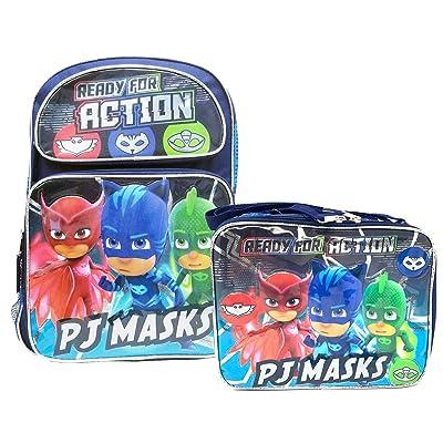 "PJ Masks School Backpack 16"" Boys & Lunch Bag 2pc set Boy Bags | Kids' Backpacks"