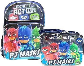 PJ Masks School Backpack 16 Boys /& Lunch Bag 2pc Set Boy Bags