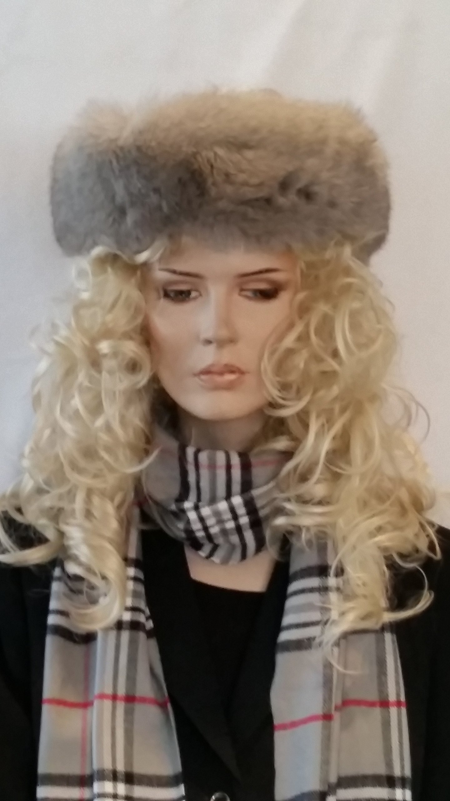 FUR-FOX HEAD BAND FROM CASHMERE PASHMINA GROUP (STONE)