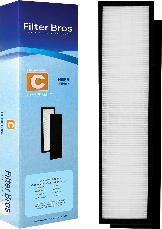 flt5000 True HEPA filtro de repuesto c para Germguardian AC5000 ...