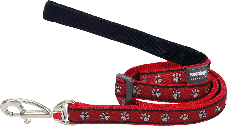 Large Red Dingo Designer Dog Lead Bonorama Red