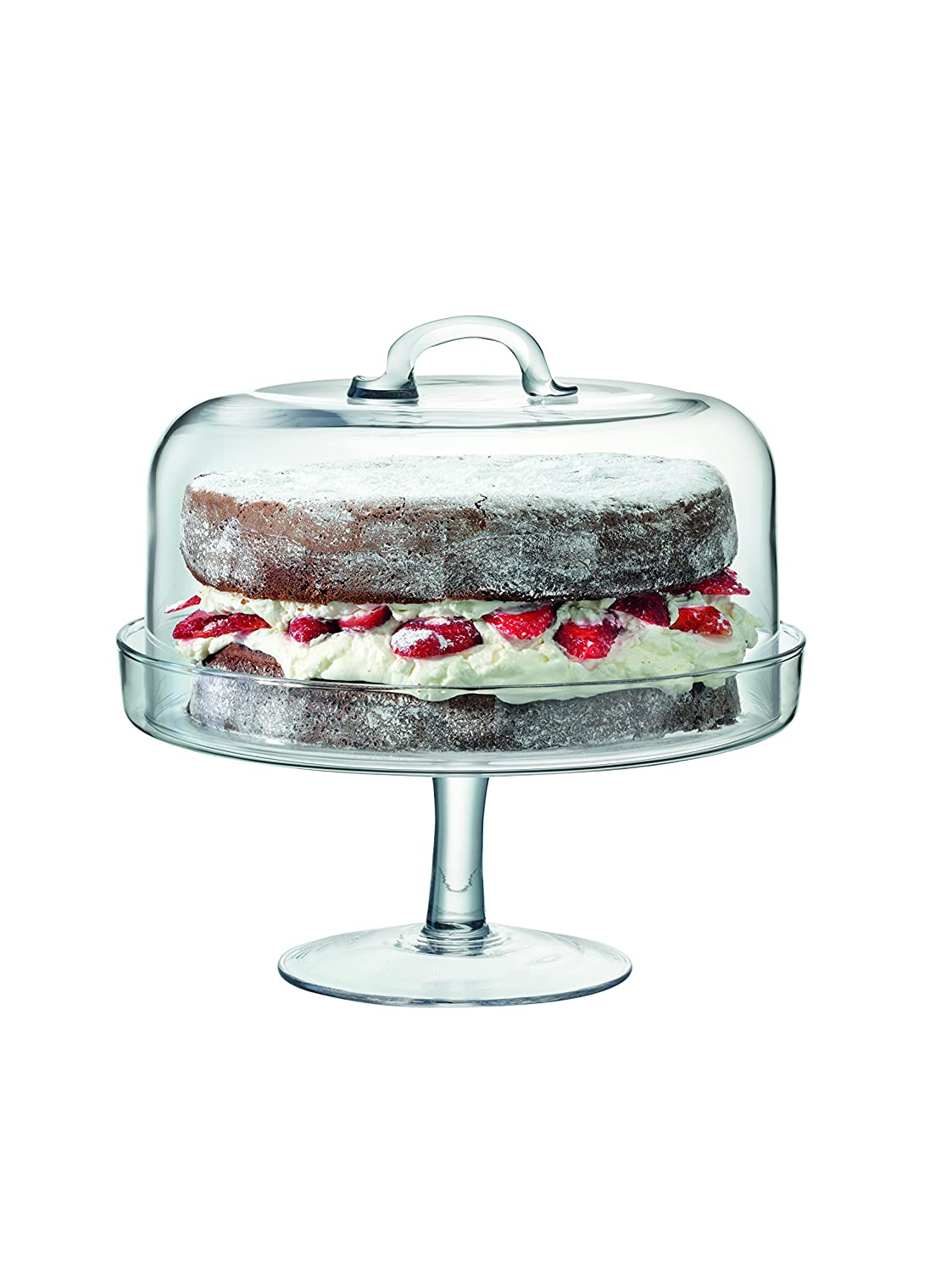 LSA International Serve Stand and Dome, 15cm, Clear G878-28-301