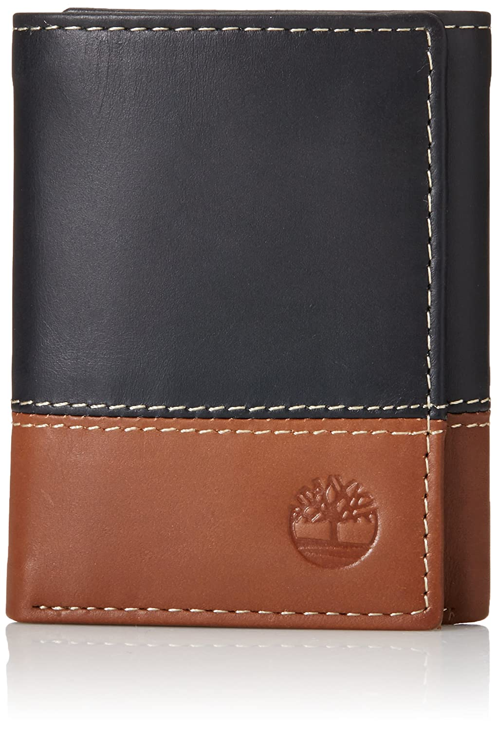 Timberland Men s Hunter Colorblocked Trifold Wallet, Black Brown, One Size   Amazon.in  Bags, Wallets   Luggage 2c0ffee7a40