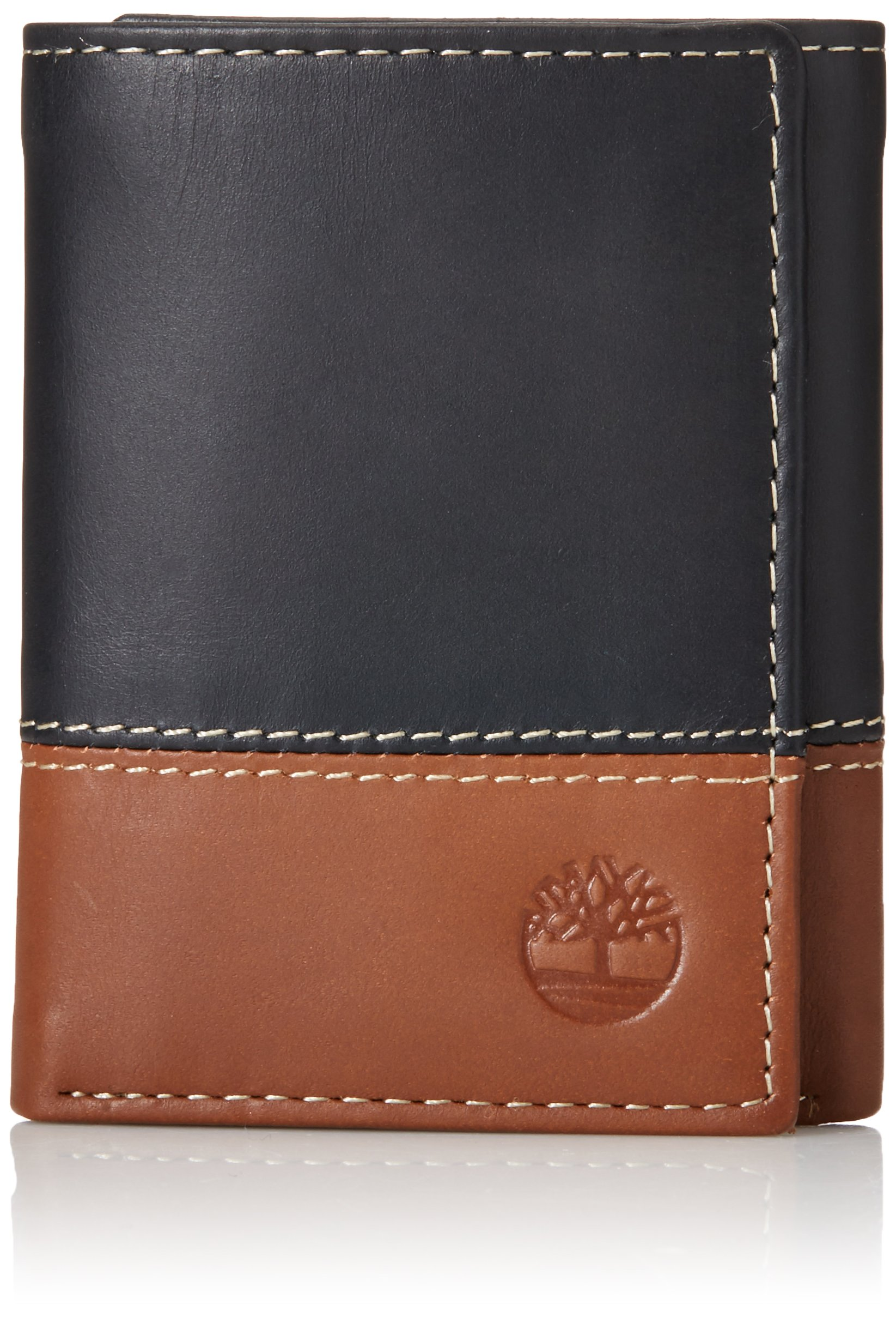 Timberland Mens Leather Trifold Wallet With ID Window by Timberland
