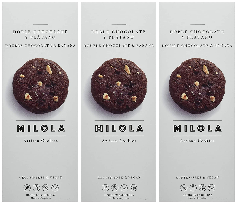 Milola, Galleta de Doble Chocolate y Plátano - 3 de 140 gr ...