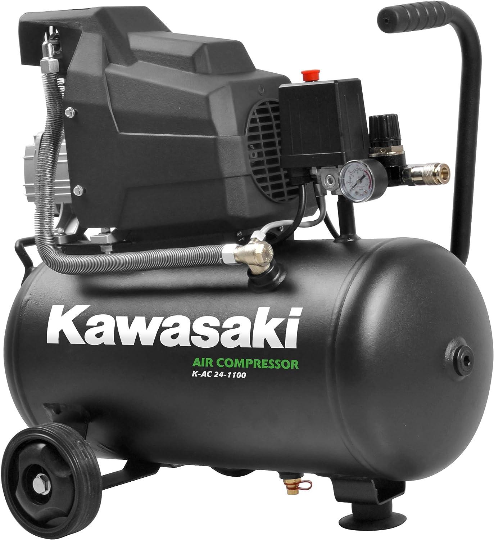 8Bar Luftkompressor Werkstatt fahrbar Induktionsmotor Ansaugleistung 356 l//min 2200W 50L Tank Kawasaki Kompressor