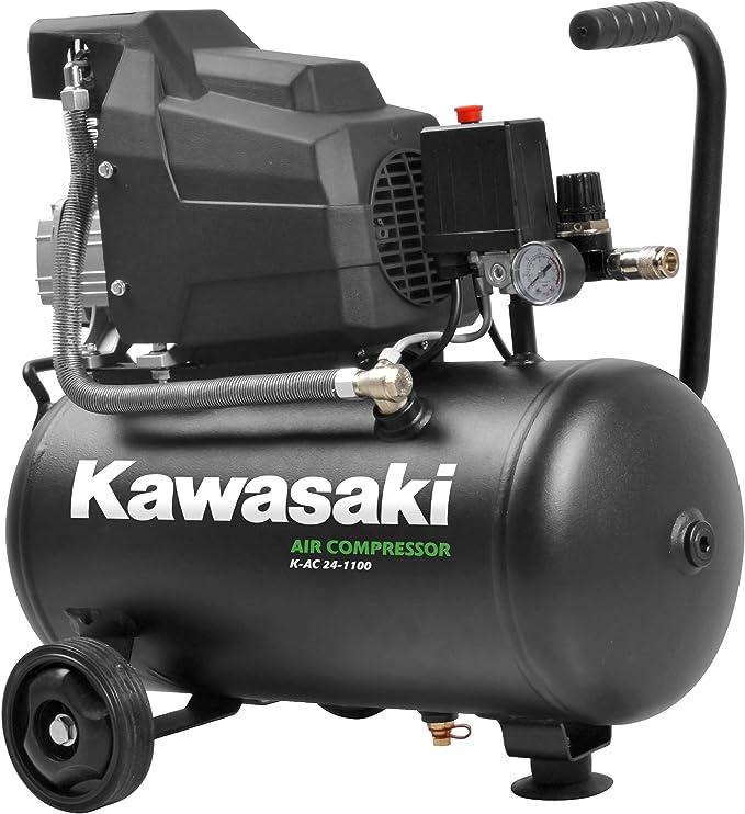 Kawasaki Compressor Air Compressor Workshop Mobile 1100 W 8 Bar Induction Motor 220 V 24 L Tank Suction Capacity 165 L Min Baumarkt