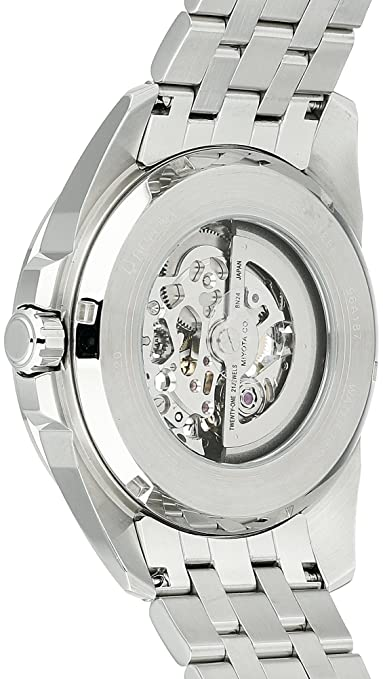 fdca94ba9 Amazon.com: Bulova Men's Mechanical-Hand-Wind Watch with Stainless-Steel  Strap, Silver, 22 (Model: 96A187): Watches