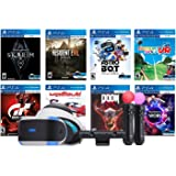 Playstation VR 8 Must-Play AAA Games Deluxe Bundle: PSVR Headset with Motion Controllers, Skyrim VR, Resident Evil…