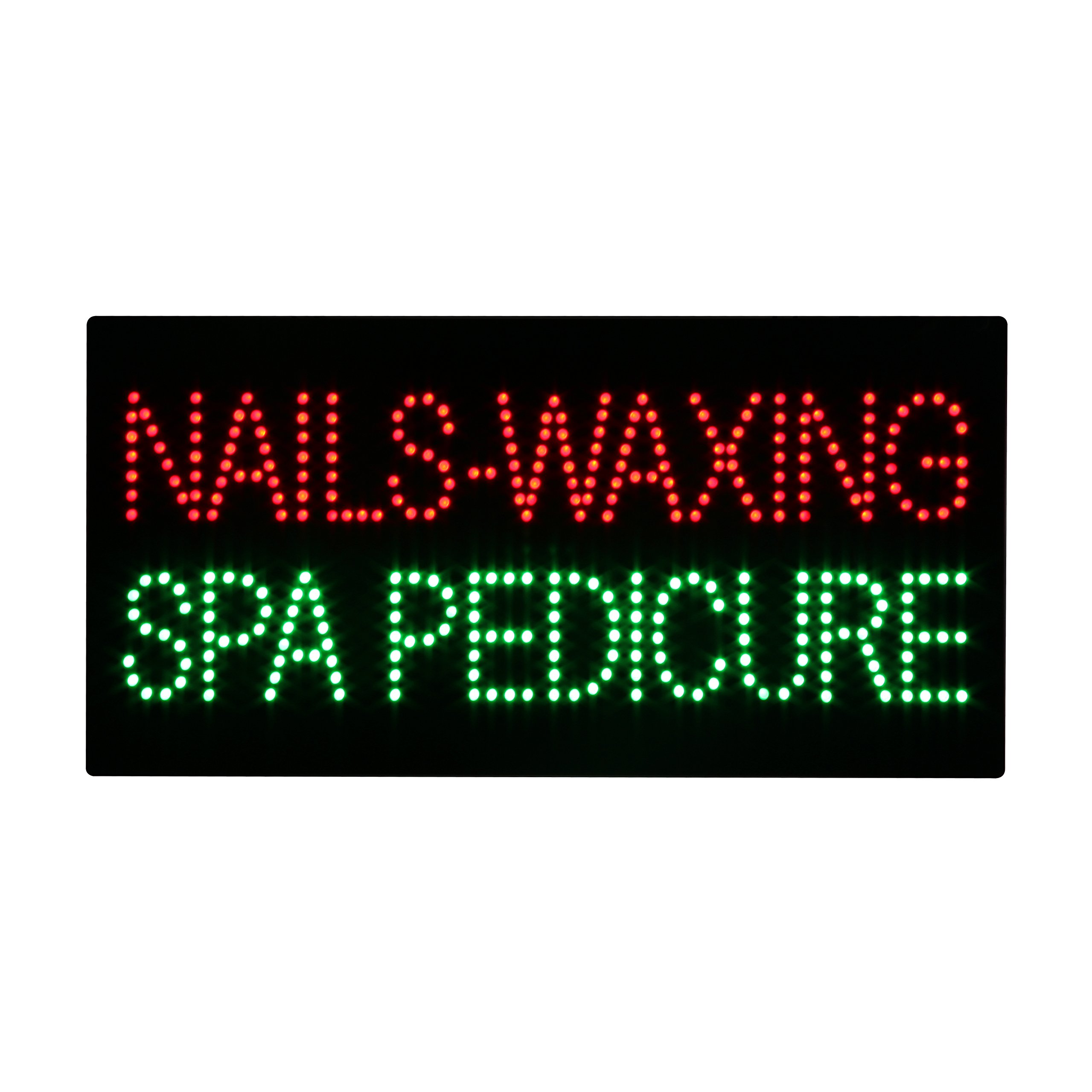 LED Nails Waxing Spa Pedicure Open Light Sign Super Bright Electric Advertising Display Board for Message Business Shop Store Window Bedroom 24 x 12 inches by HIDLY