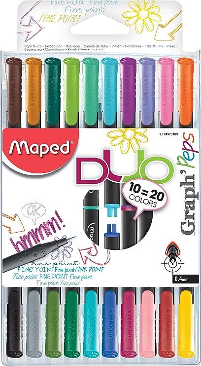 Maped gráfico Peps – Rotuladores de tinta negra 10 Stifte