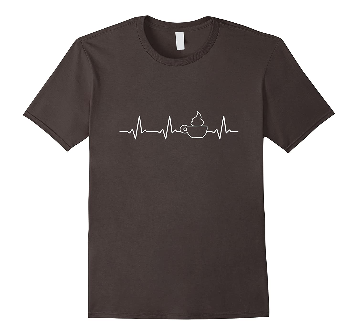 Coffee Heartbeat t-Shirt My Heart Beats Thanks to Coffee-TH