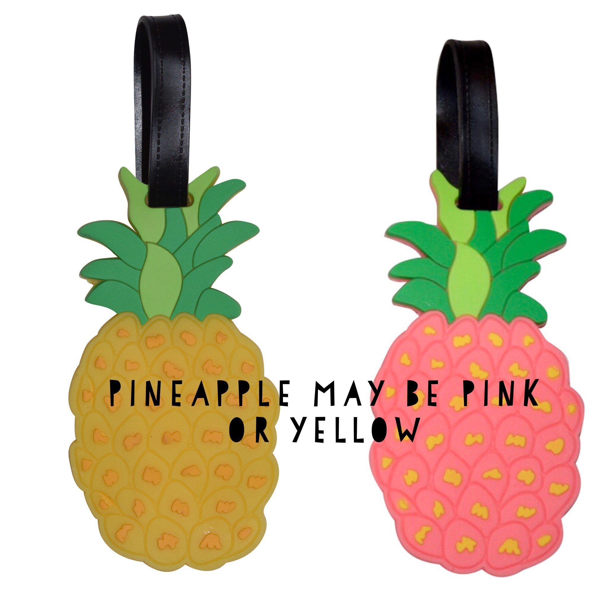 Unique Luggage Tags for Womens Travel: Watermelon and Pineapple Luggage tags for Suitcase (Pineapple and Watermelon, one size)