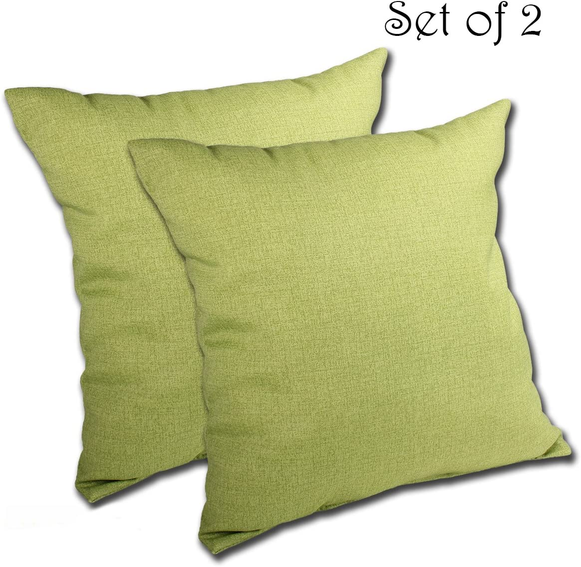 Comfort Classics Inc. Set of 2 16W x 16D x 5H Spun Polyester Outdoor Throw Pillow in Husk Texture Leaf