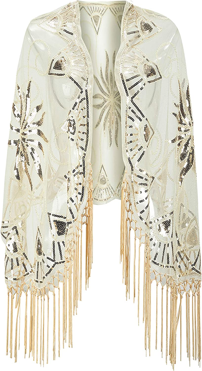 MORFORU Women's 1920s Sheer...