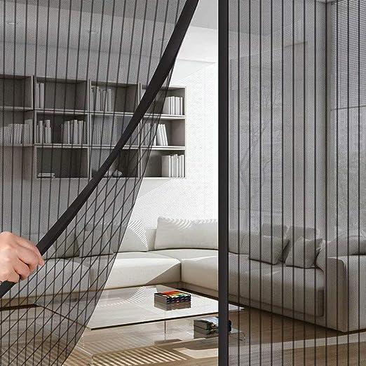 Full Frame Klettverschluss Magnetischer Fliegenvorhang Moskitonetz CHENG Insektenschutz balkont/ür 175x205cm Passt T/ürgr/ö/ße bis zu Wei/ß