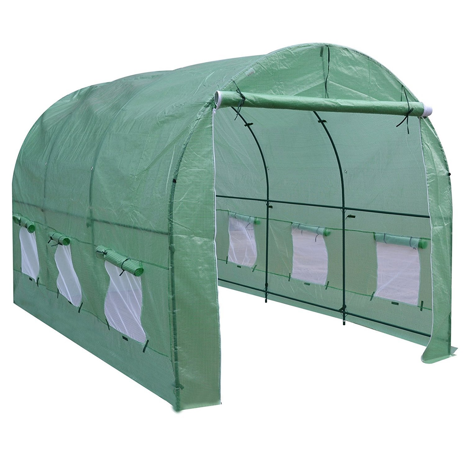 BenefitUSA GH050 Larger Walk Plant Outdoor Gardening Greenhouse, 12'x7'x7' , Green by BenefitUSA