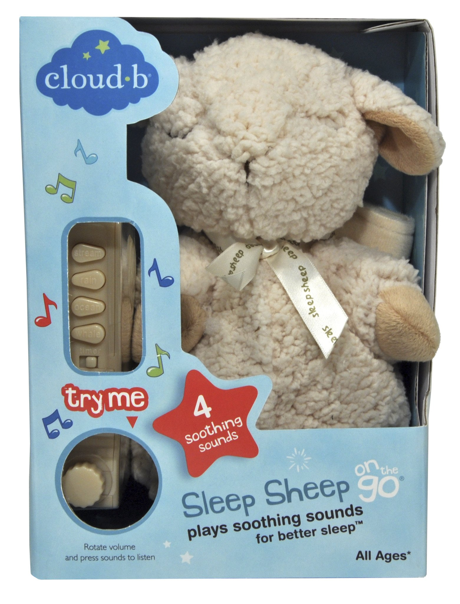 Cloud b Sleep Sheep On The Go Travel Sized White Noise Sound Machine by Cloud b (Image #6)