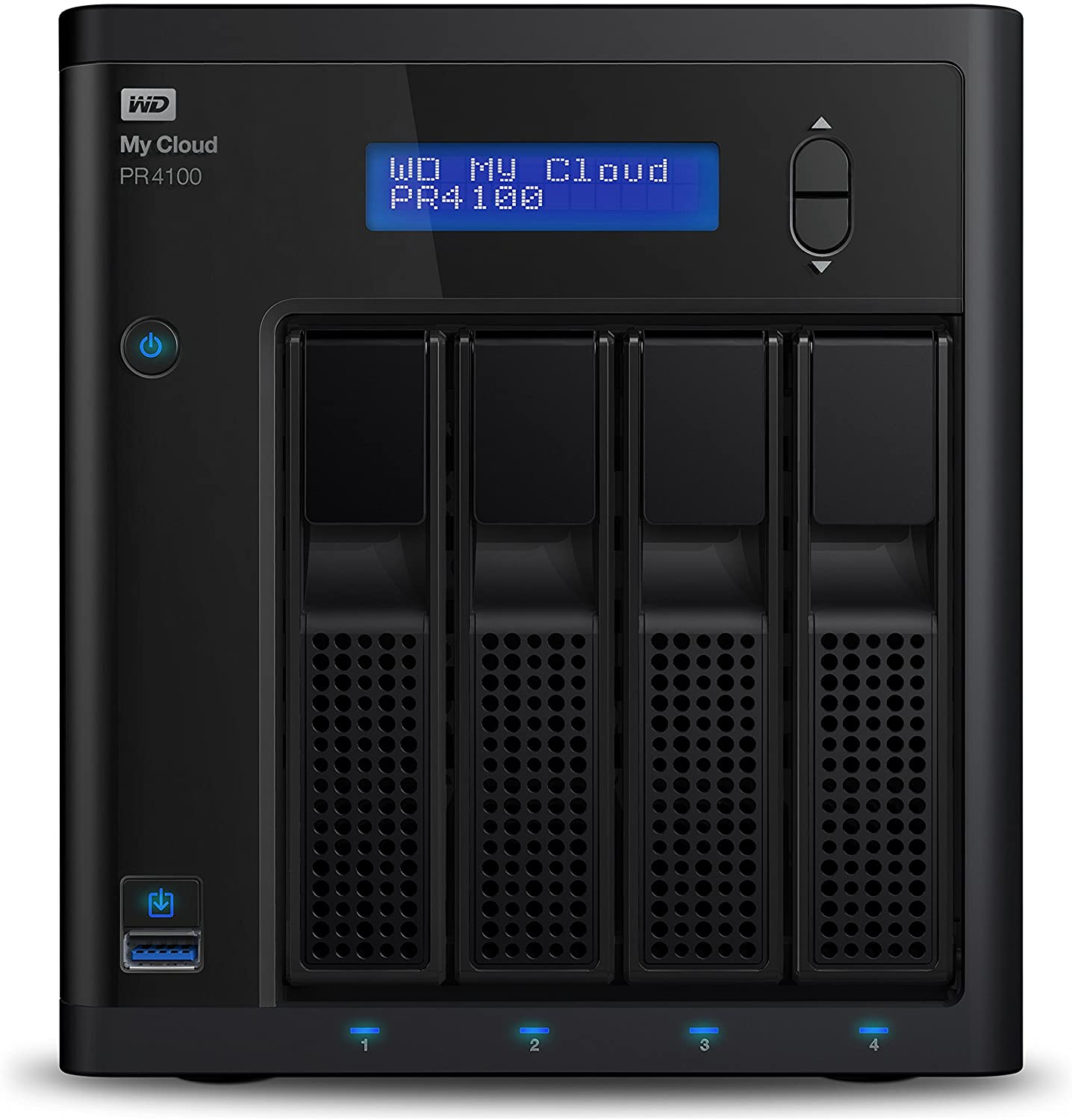WD My Cloud Pro Series PR4100 - Almacenamiento en Red (NAS) de 40 TB y Servidor Multimedia con transcodificación