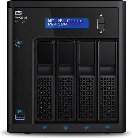 TALLA 40 TB. WD My Cloud Pro Series PR4100 Almacenamiento en red NAS y servidor multimedia con transcodificación,40TB