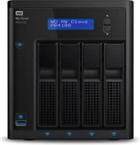 WD Diskless My Cloud Pro PR4100 Professional Series 4-Bay Network Attached Storage - NAS - WDBNFA0000NBK-EESN