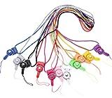 Danyee®安心交換保証付 「全5色」ネックストラップ 長さ40cm 携帯ストラップ フィンガーストラップ (ブルー)