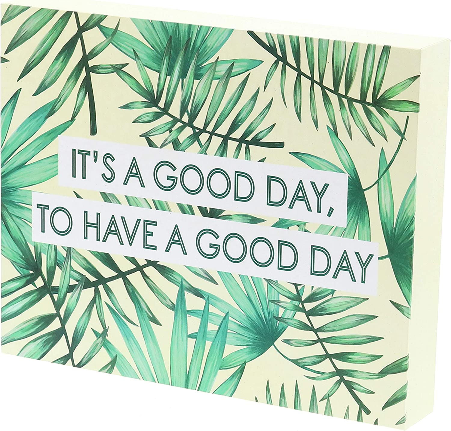 "Barnyard Designs It's a Good Day to Have a Good Day Box Sign Tropical Beach Decor Inspirational Positive Quote Sign Home Wall Decor 10"" x 8"""