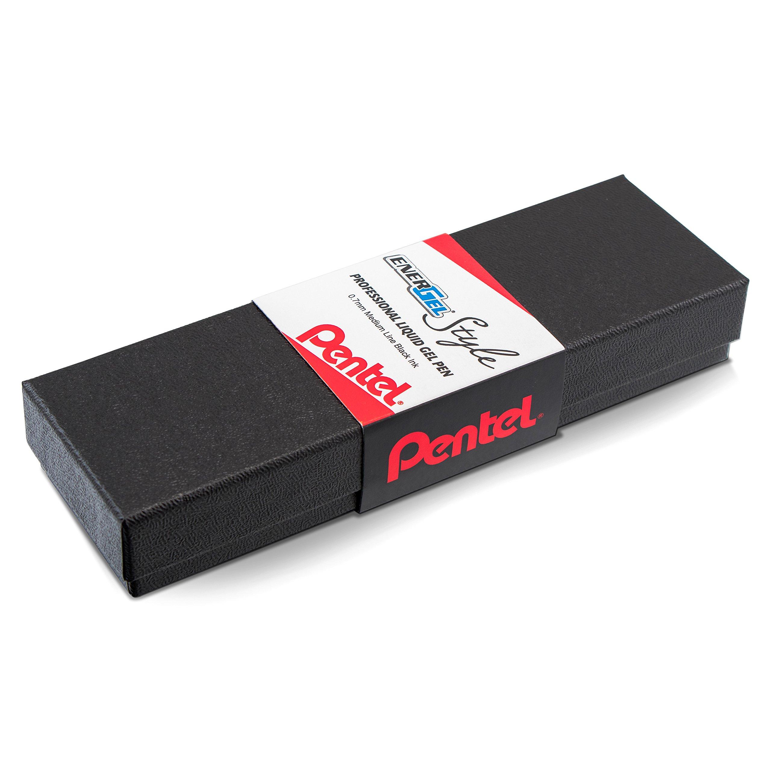Pentel EnerGel Style Gel Pen, (0.7mm) Medium Line,Teal Blue Barrel - BL2007SABX by Pentel (Image #6)