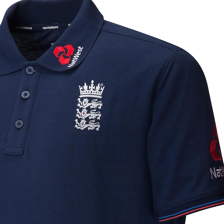 New Balance England Cricket Training Media Polo Shirt