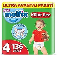 Molfix Külot Bez, Maxi 4 Beden, Ultra Avantaj Paketi, 136 Adet