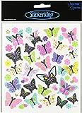 Multi-Colored Stickers-Butterflies In Glitter