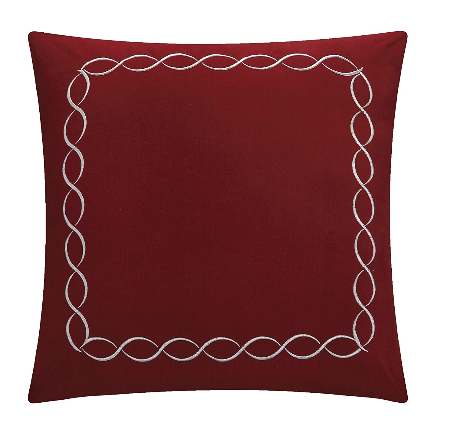 King Chic Home 4 Piece Barcelo Traditional Embroidery Quilt Set with Embroidered Decorative Pillow Plum