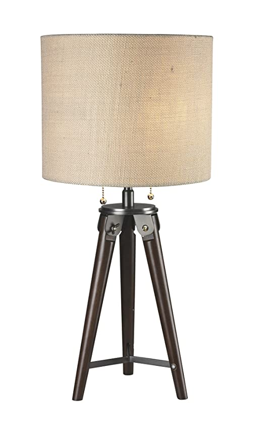 Luxeria L2 Lux1062 Wood Antique Bronze Modern Paige Tripod Table
