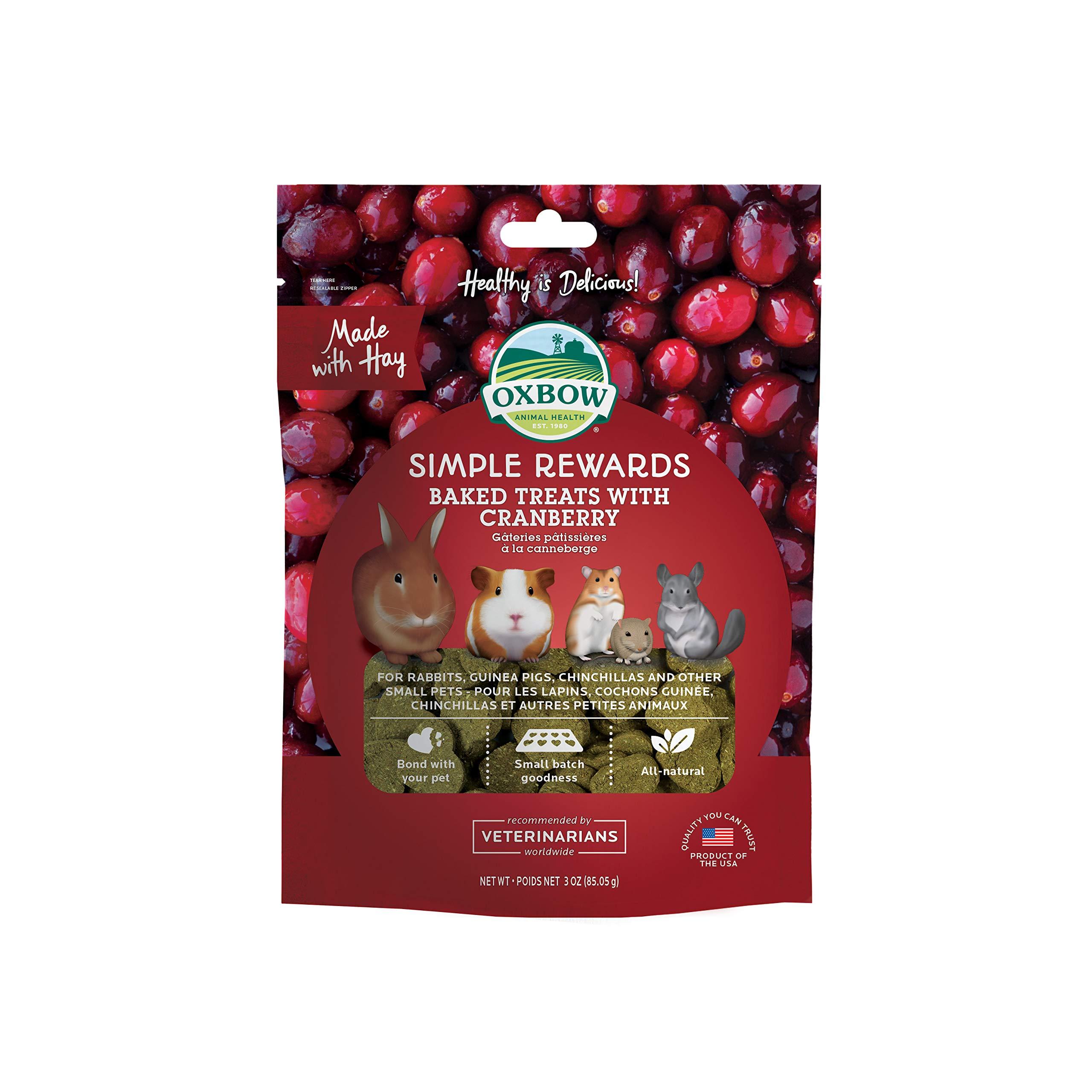 Oxbow Cranberry Simple Rewards Baked Treats